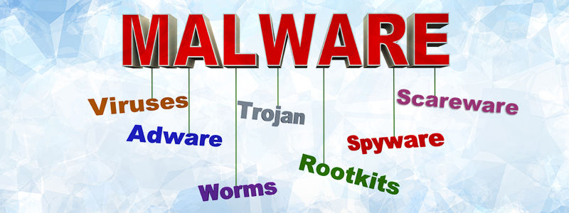 What are the different types of malware
