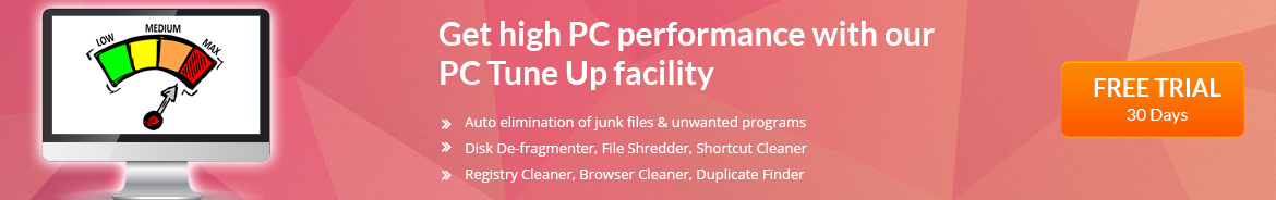 PC Security software with PC tune up facility