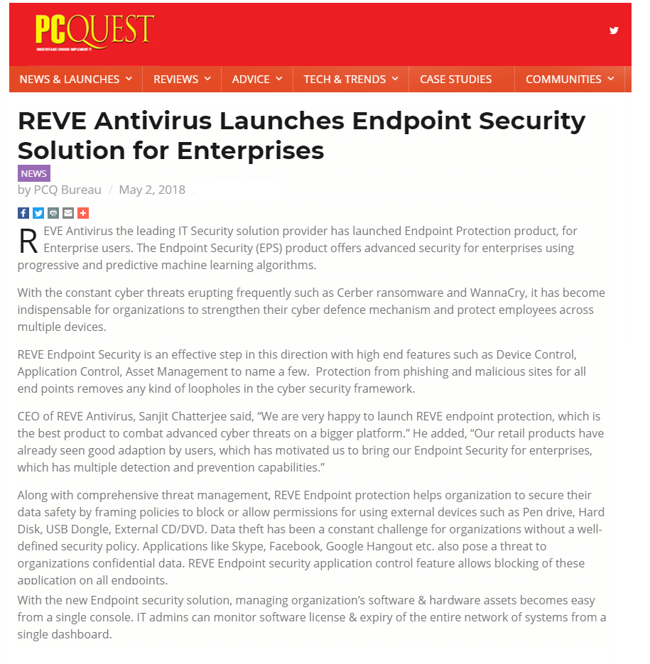 REVE Antivirus-Virus protection| Antivirus| Email Security